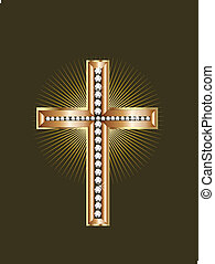 bijouterie or, croix