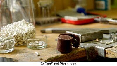 bijouterie, table, 4k, outils, arrangé
