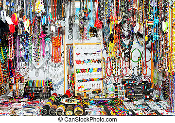 Bijoux shop - Close up shot of small bijoux shop