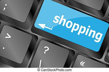 bijzondere , toetsenbord, klee, met, shoppen , klee