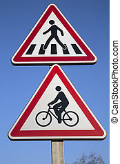Bike and Pedestrian Crossing Sign