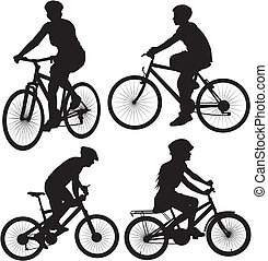 bike, bicycle, bicyclist - icon - bike ride, cycling...