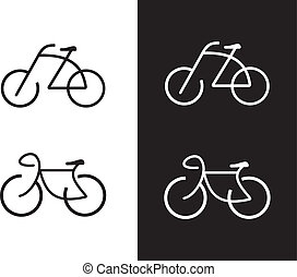 Bike, bicycle - icon - Bike - vector icon. Isolated design ...