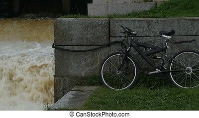 bike by the dam