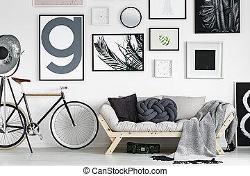Bike by the sofa