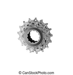 bike cassette isolated on white