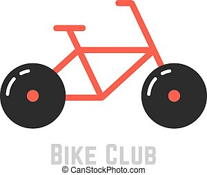 bike club with red bicycle