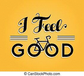 Bike concept bicycle retro poster feel good - I feel good ...