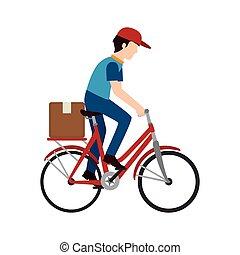 bike delivery man box