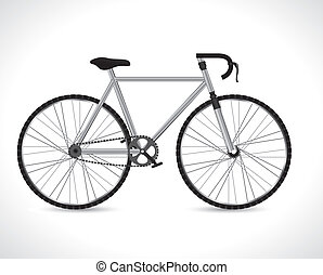 Bike design over white background, vector illustration,