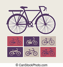 Bike design over beige background, vector illustration,