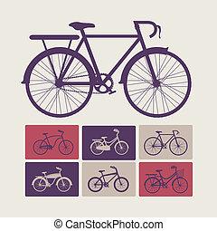 Bike design over beige background, vector illustration,