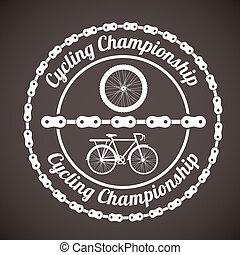 Bike design over brown background, vector illustration,