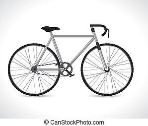 Bike design over white background, vector illustration,
