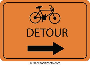 bike detour sign
