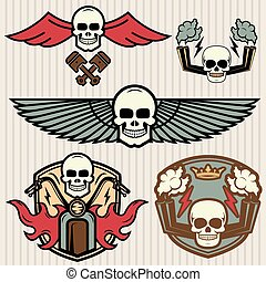 bike emblems vintage set