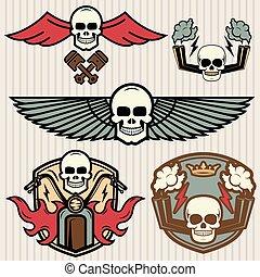 bike emblems vintage set
