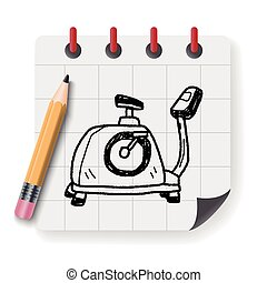 bike fitness doodle