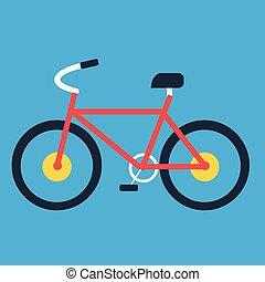 Bike flat icon, illustration vector