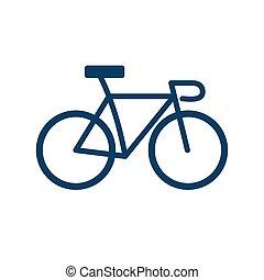 bike flat style icon vector design