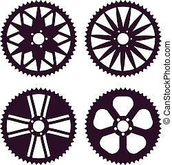 Bike gear - Vector pack of bike rear sprocket