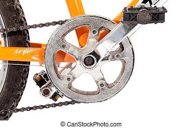 Bike gear wheel and pedal