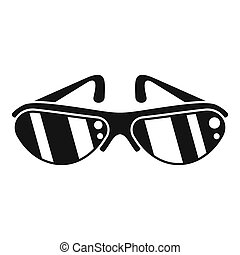Bike glasses icon, simple style