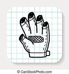 bike glove doodle
