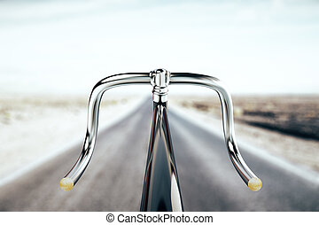 Bike handlebar, travel concept