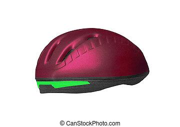 Bike helmet isolated