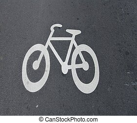 Bike here - Bike painted on the road