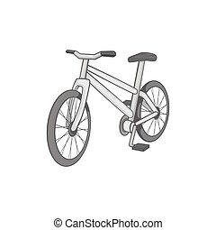 Bike icon, black monochrome style