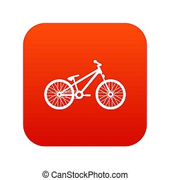 Bike icon digital red