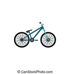 Bike icon, flat style