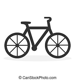 Bike icon. Flat vector illustration isolated on white background.