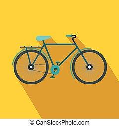 Bike icon in flat style
