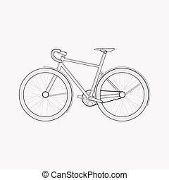 Bike icon line element. Vector illustration of bike icon line isolated on clean background for your web mobile app logo design.