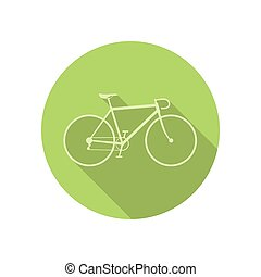 Bike icon on green round background