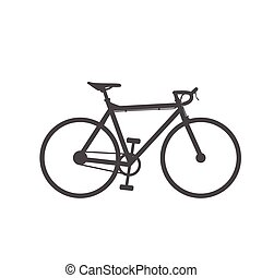 bike icon on white background