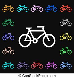 bike iconi sign. Lots of colorful symbols for your design. Vector