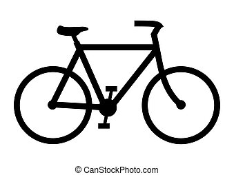 Bike - Illustration of a black bicycle on a white background