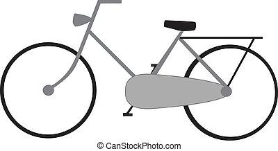 bike - drawing of a bike isolated on white