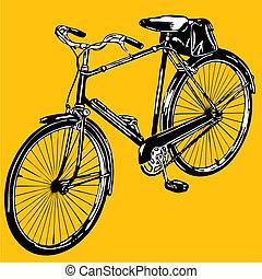 bike  - silhouettes  old classic bike Illustration Vector