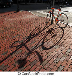 Bike in a square