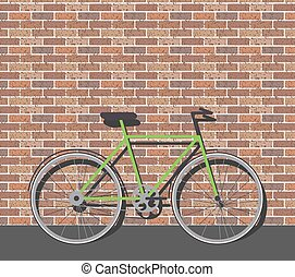 Bike in front of brick wall