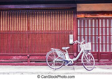 Bike in front of door