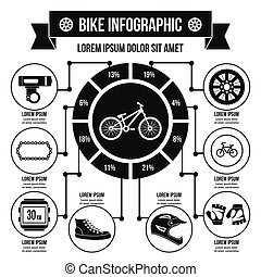 Bike infographic concept, simple style