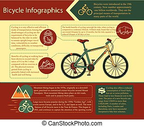 Bike infographic. Vector illustration.