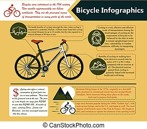 Vector illustration Cycling lifestyle info.