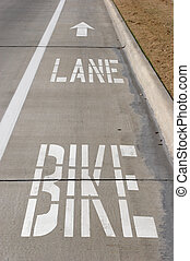 Bike Lane - Bike lane on a road